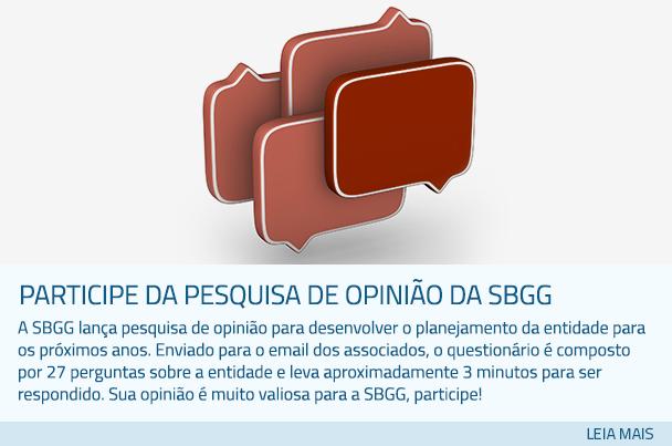 Participe da pesquisa de opinião da SBGG