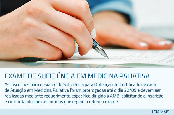 Exame de Suficiência em Medicina Paliativa