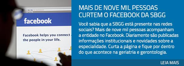 Mais de nove mil pessoas curtem o Facebook da SBGG