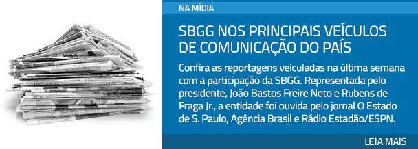SBGG nos principais veículos de comunicação do País