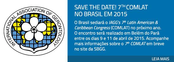 Save the date! 7th COMLAT no Brasil em 2015