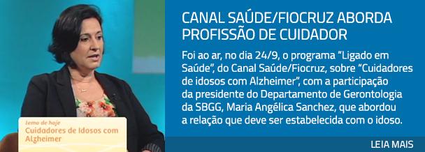Canal Saúde/Fiocruz aborda profissão de cuidador
