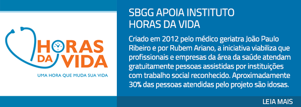 SBGG apoia Instituto Horas da Vida