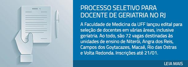 Processo seletivo para docente de geriatria no RJ