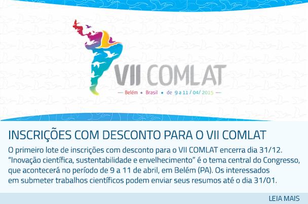 Inscrições com desconto para o VII COMLAT
