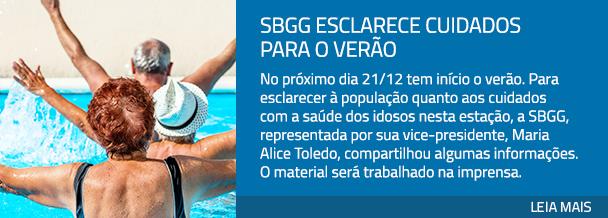 SBGG esclarece cuidados para o verão
