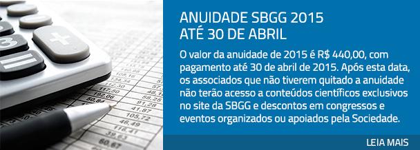 Anuidade SBGG 2015 até 30 de abril