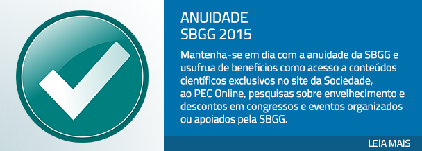 Anuidade SBGG 2015