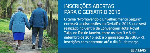 Inscrições abertas para o GeriatRio 2015