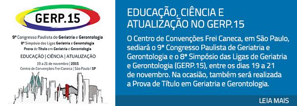 Educação, ciência e atualização no GERP.15
