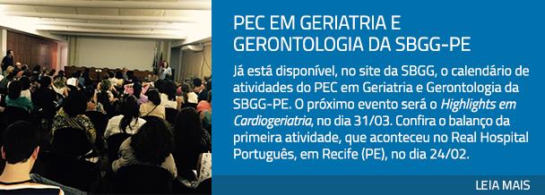 PEC em Geriatria e Gerontologia da SBGG-PE