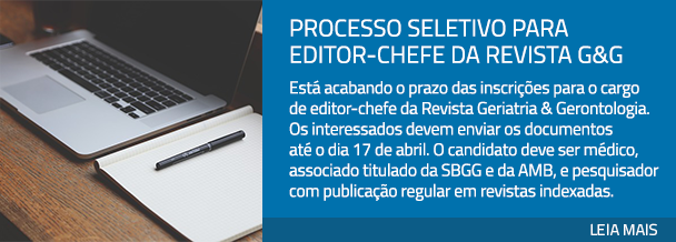 Processo seletivo para editor-chefe da Revista G&G