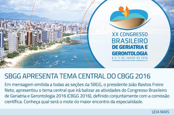 SBGG apresenta tema central do CBGG 2016