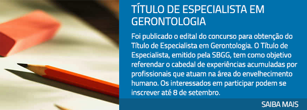 Título de Especialista em Gerontologia