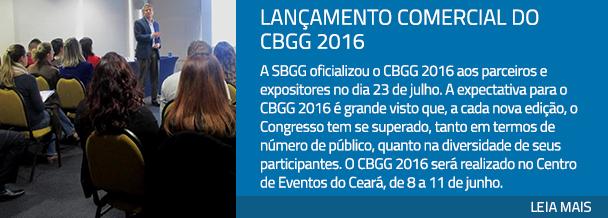 Lançamento comercial do CBGG 2016