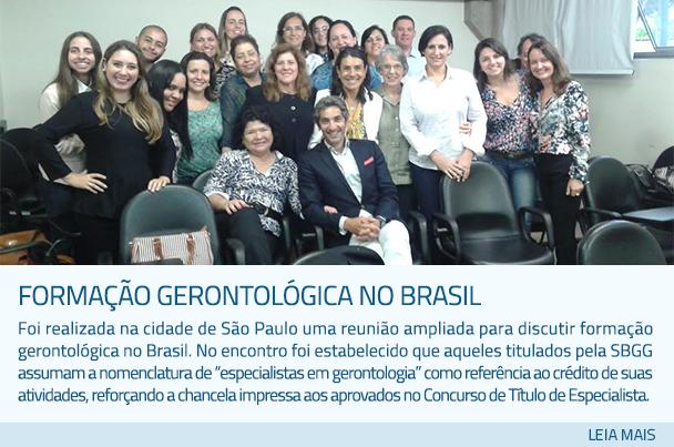 Formagco Gerontolsgica no Brasil