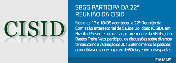 SBGG participa da 22ª Reunião da CISID