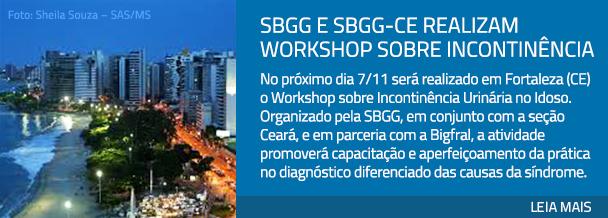 SBGG e SBGG-CE realizam workshop sobre incontinjncia