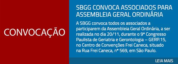 SBGG convoca associados para Assembleia Geral Ordinaria