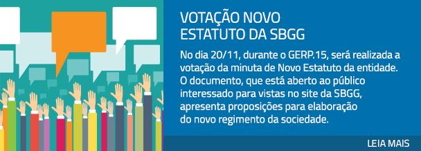 Votação Novo Estatuto da SBGG
