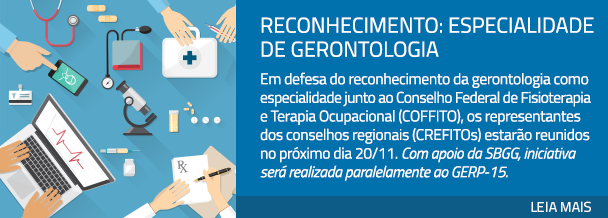 Reconhecimento: especialidade de gerontologia