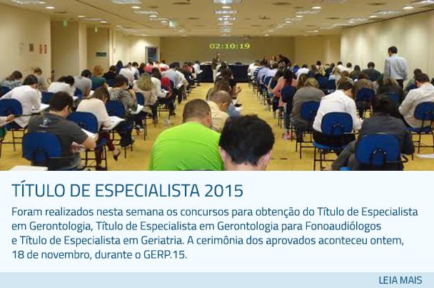 Título de Especialista 2015