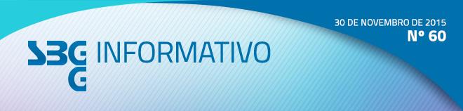 SBGG Informativo - Nº 60 - 30 de novembro de 2015
