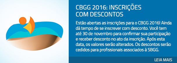 CBGG 2016: inscrições com descontos