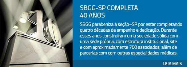 SBGG-SP completa 40 anos
