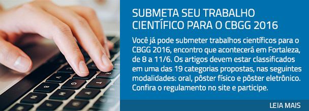 Submeta seu trabalho científico para o CBGG 2016