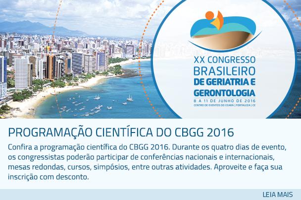 Programação científica do CBGG 2016