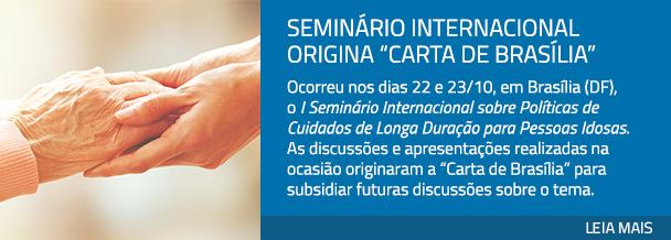 "Seminário Internacional origina ""Carta de Brasília"""