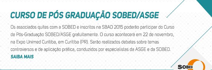 Curso de Pós Graduação SOBED/ASGE