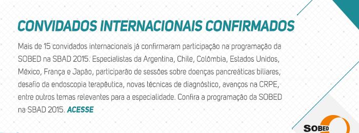 Convidados internacionais confirmados