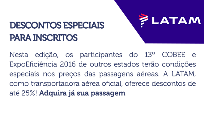 Passagens aéreas com descontos especiais para inscritos
