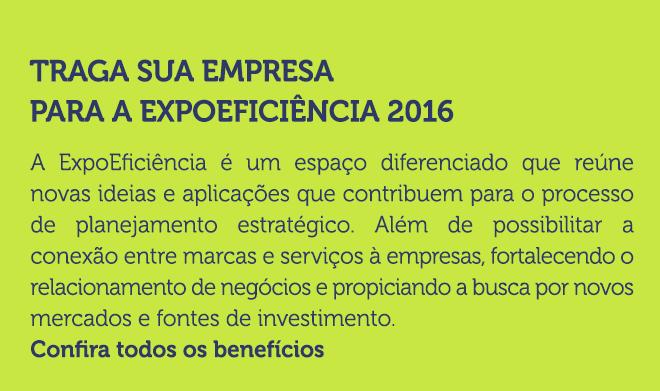 Traga sua empresa para a ExpoEficiência 2016