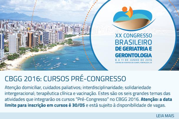 CBGG 2016: Cursos Pré-Congresso
