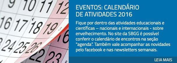 Eventos: calendário de atividades 2016