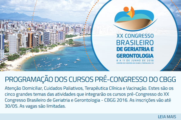 Programação dos Cursos Pré-Congresso do CBGG