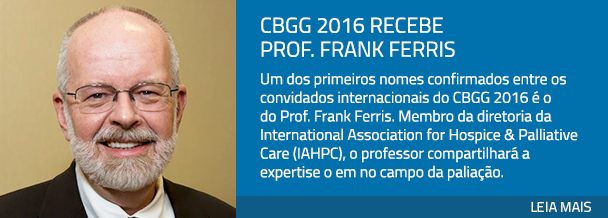 CBGG 2016 recebe Prof. Frank Ferris