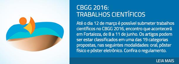 CBGG 2016: trabalhos científicos