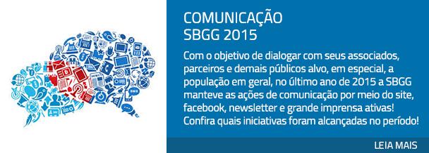 Comunicação SBGG 2015