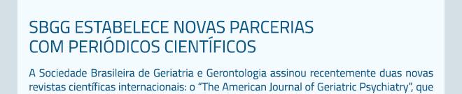 SBGG estabelece novas parcerias com periódicos científicos
