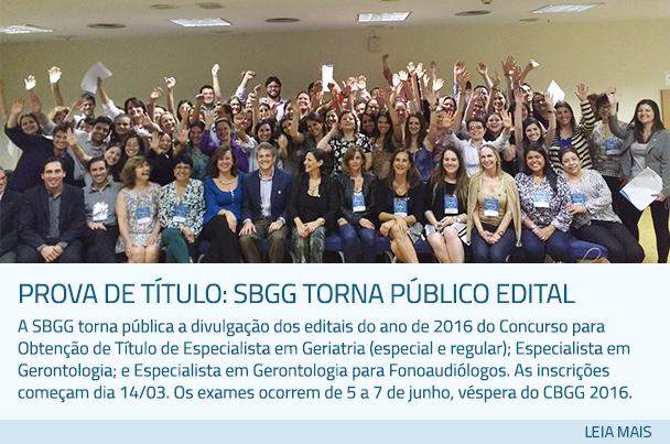 Prova de Título: SBGG torna público edital