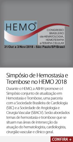 Simpósio de Hemostasia e Trombose no HEMO 2018