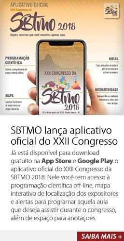 SBTMO lança aplicativo oficial do XXII Congresso