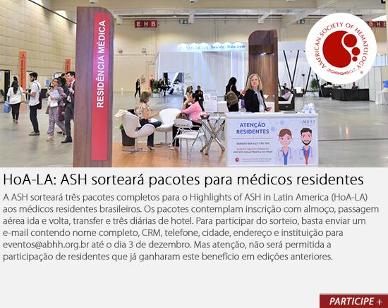HoA-LA: ASH sorteará pacotes para médicos residentes