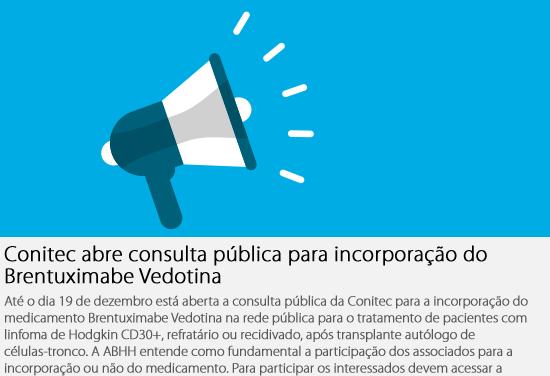 HConitec abre consulta pública para incorporação do Brentuximabe Vedotina