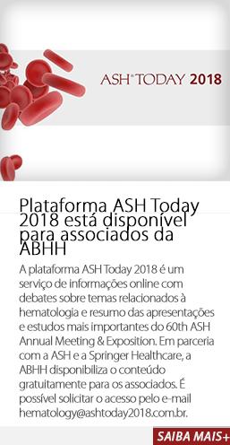 Plataforma ASH Today 2018 está disponível para associados da ABHH